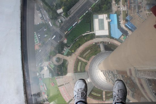 Shanghai Tour Facilitator - Harris Private Tour : view from the Pearl tower glass floor