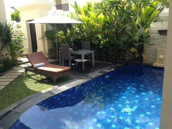 D'Wina Villa Kuta: Pool and garden