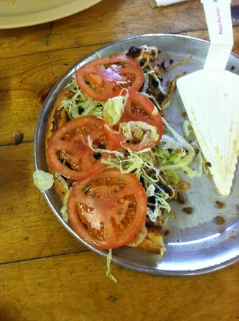 Pizza Factory: The Fiesta Pizza -- half eaten!