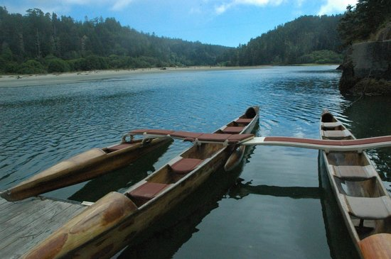 Stanford Inn by the Sea: Rent a canoe on Big River