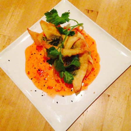 The Green Elephant : Vegan stuffed crispy wontons