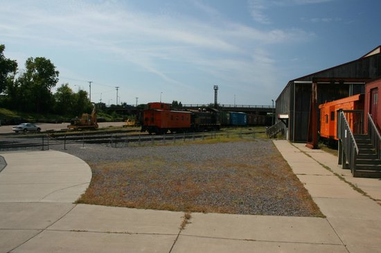 Jackson Street Roundhouse: Outdoor, some train cars, nothing special