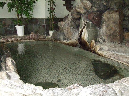 Kappo Ryokan Kasugaro : 2日目に他の客もいないので男性用大浴場を夫婦で貸し切りで何度も使わせてくれました