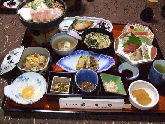 Kappo Ryokan Kasugaro : 割烹料理の夕食は量も質も大満足
