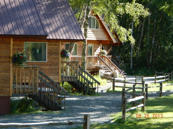 Susitna River Lodging: All the cabins