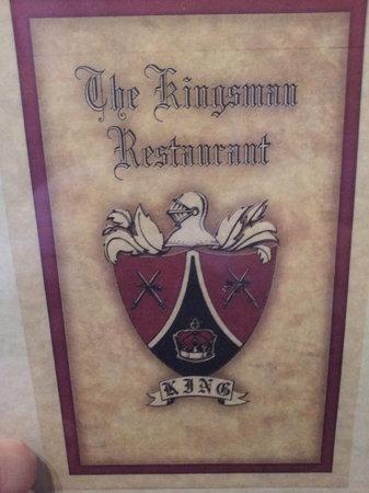 Kingsman Restaurant: front of menu