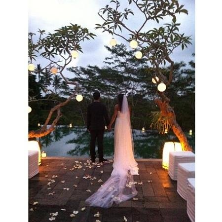 Villa Bukit Naga : perfect backdrop for our wedding ceremony