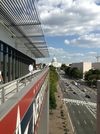 Newseum: Terrace view