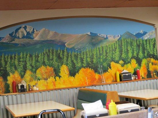 Chicago's Best: One of the impressive murals inside the restaurant