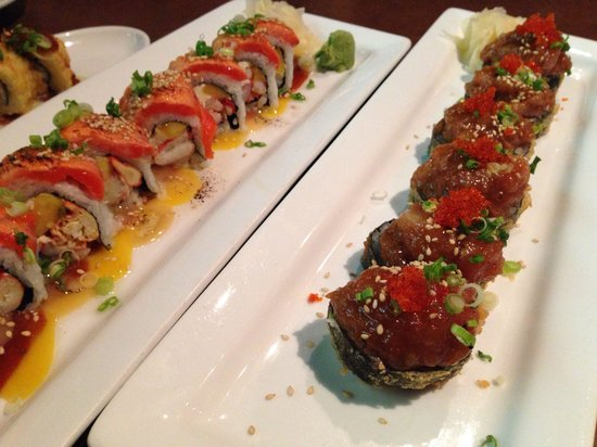Osamu Sushi: aburi roll & volcano roll