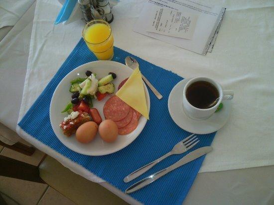 Balos Beach : завтрак