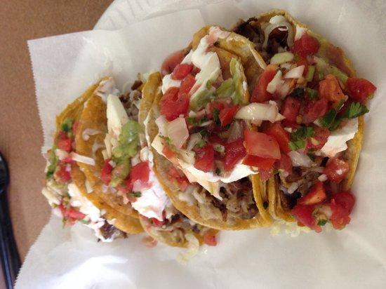 Taqueria Merlo: Carnitas(pork) on corn tacos. Yummmmm