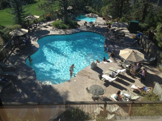 Sun Mountain Lodge: View of the Pool from 3rd Floor Room