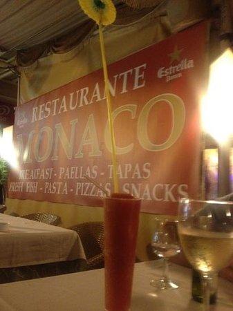 Monaco Restaurante : complimentary drink