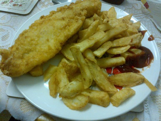 Two Brothers Fish Bar & Kebab: Haddock and chips