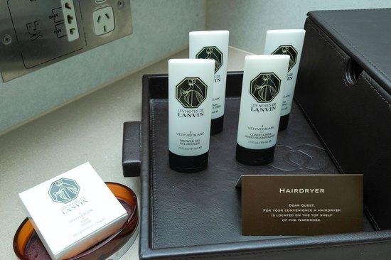Sofitel Melbourne on Collins: Lanvin's shampoo & conditioner