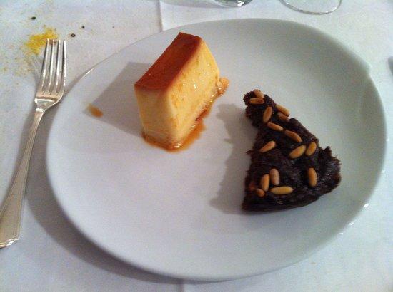 Muraglia: creme caramel e torta di mele e pinoli