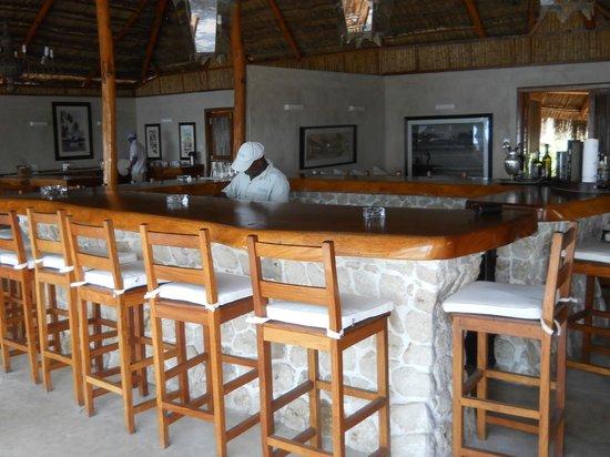 Rio Azul Mozambique: Magnificent bar with Shadryk
