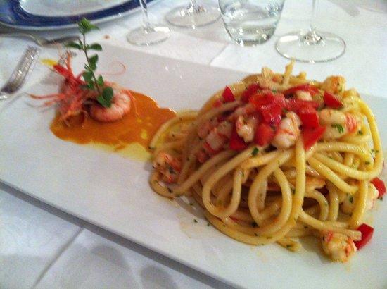 Muraglia: spaghetti ai gamberetti