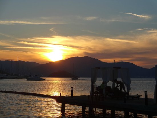 TUI Sensimar Marmaris Imperial Hotel : view from jetty where we enjoyed our days