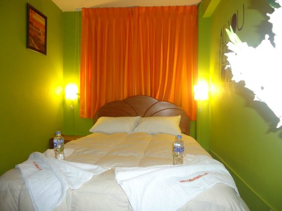 Cusi Backpacker Hostel: Habitacion matrimonial con baño privado y tv cable