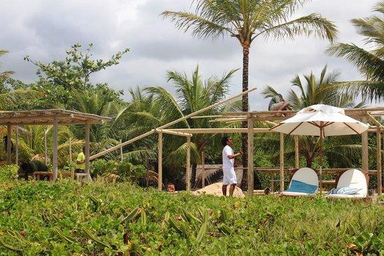 Villas de Trancoso Hotel: Travaux sur la plage