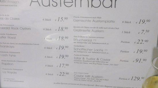 Oyster Bar KaDeWe: Austernbar