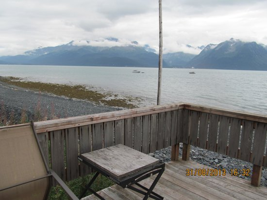 Alaska Base Camp: This is the view from the deck