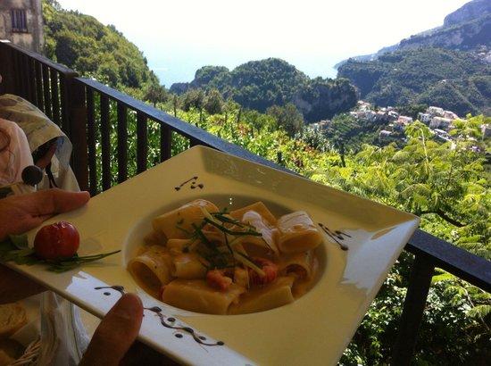 Villa Maria Restaurant : Piatto e panorama