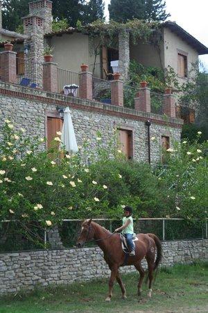 Borgo Maisale: Dochter blij, want er zijn paarden!!