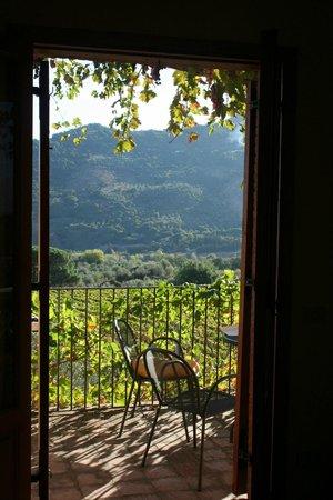 Borgo Maisale: vanaf ons balkon, een prachtig uitzicht