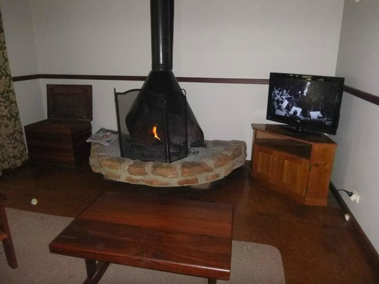 إفيدون بارك بوش ريزورت: The log cabin fire and TV