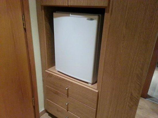 Le Commodore Hotel: Mini fridge