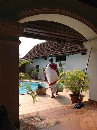 Raheem Residency: morning cleaning