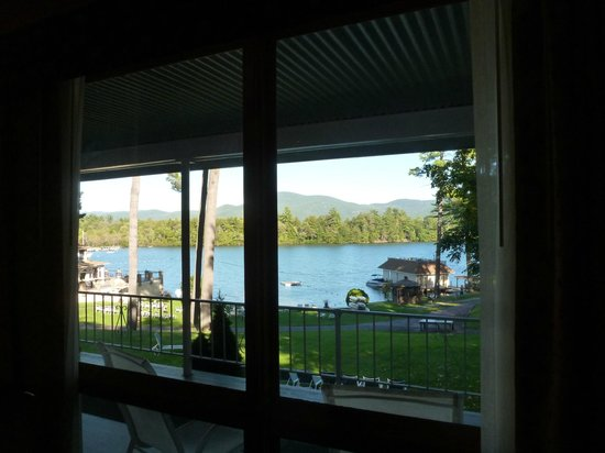 Chelka Lodge on Lake George: View from inside our room