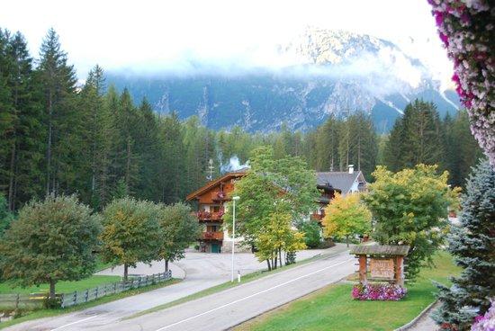 Hotel Pragserhof: Vue prise du balcon de la chambre