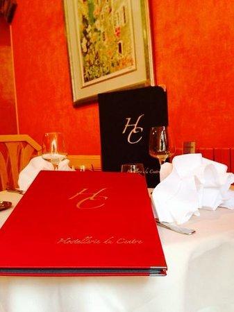 Ancy-le-Franc, France: menu