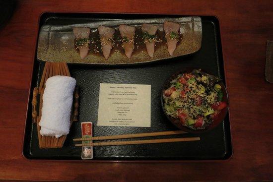 Shizuka Ryokan Japanese Country Spa Retreat: The Banquet - entree
