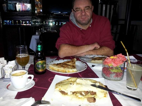 Hotel Italia: cevapi, meat pie, cheese pie, sarajevo beer....