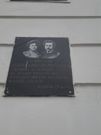 Albert Einstein and Mileva Maric memorial plate