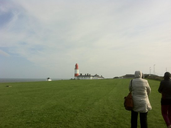 Souter Lighthouse and The Leas: Windy day but nice way to end it