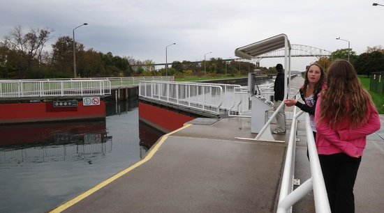 Sault Ste. Marie Canal National Historic Site: locks open
