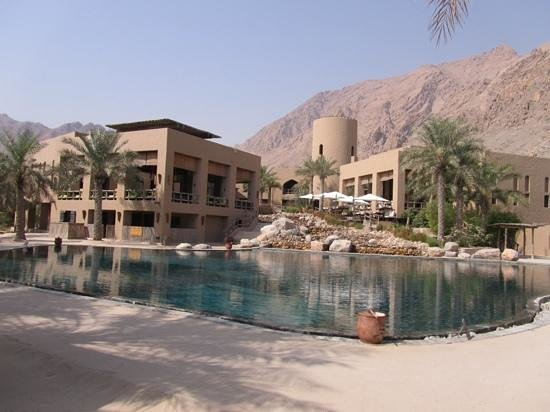 Zighy Bay, Oman: the pool