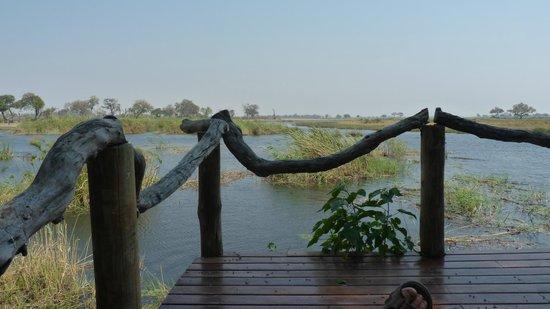 Lagoon Camp - Kwando Safaris: Our deck
