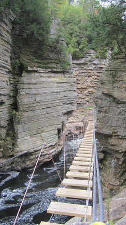 Ausable Chasm : Suspension Bridge