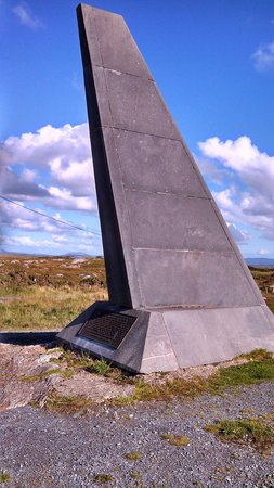 Alcock and Brown Landing Site : Memorial to A & B- due West