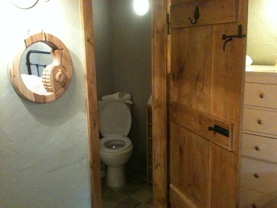 Meadow Cottage: Small bathroom, wih power shower