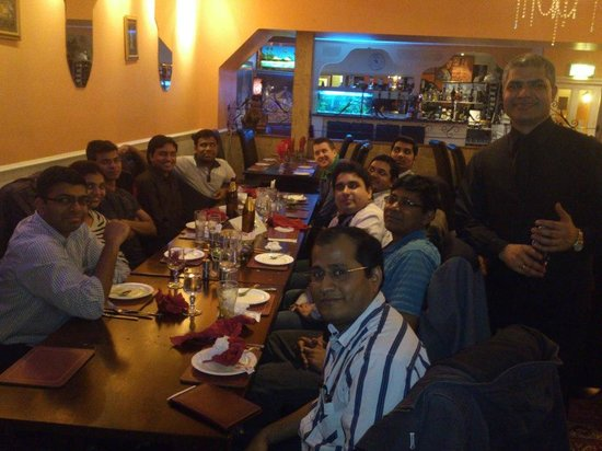 Moghul Indian Restaurant : Mr.Narayan with Citi Group friends