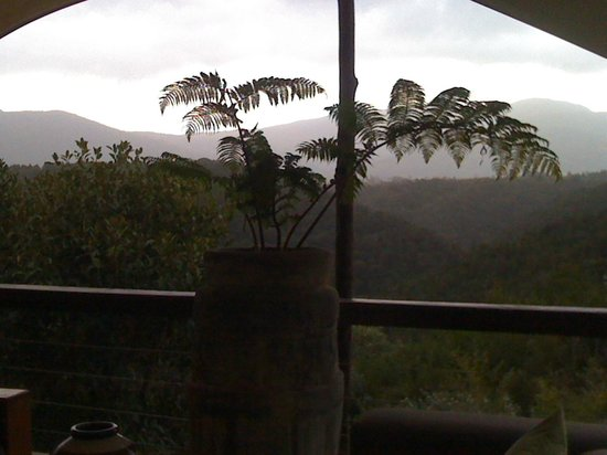 Hog Hollow Country Lodge : View from lodge terrace to the mountains
