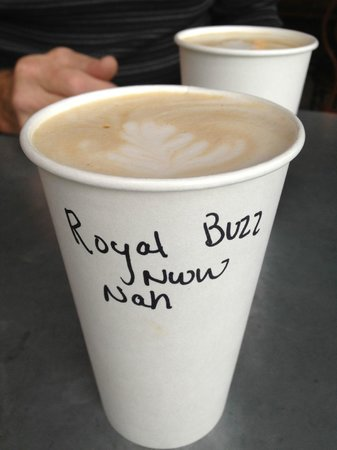 Java Coffeehouse & Cafe: Order the Royal Buzz! Impressed that they even made a to-go order look pretty!